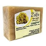Sapone allo Zolfo - Sapone Artigianale 100% naturale e vegetale - Saponetta allo zolfo rinfrescante ideale per pelli grasse - Made in Italy