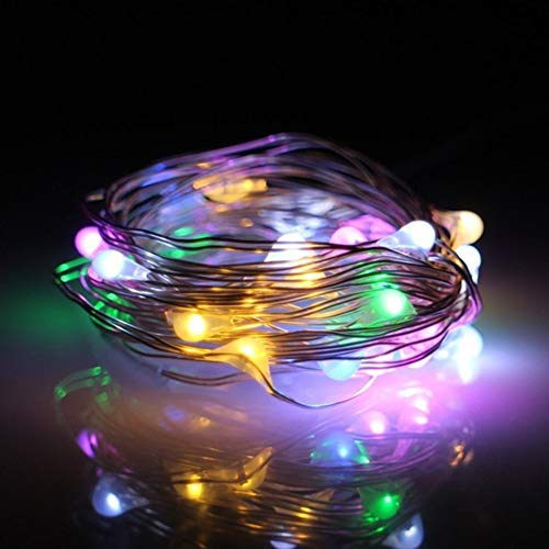 XKMY String lights Battery Operated Home Copper Wire Wedding Garden 20 LED Fairy Party Decoration Indoor Outdoor Waterproof Light String (Color : MULTI, Emitting Color : Warm White)