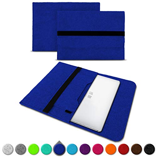 UC-Express Sleeve Hülle kompatibel für Trekstor Primebook C13 / P14 / P13 / P14B Tasche Filz Notebook Cover 13,3-14 Zoll Laptop Hülle, Farben:Blau