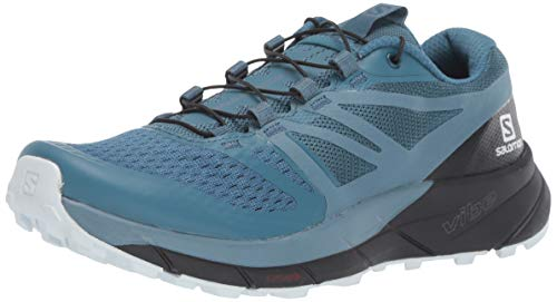 Salomon Women's Sense Ride 2 Trail Running Shoes, Mallard Blue/Blue Stone/Black, 9.5