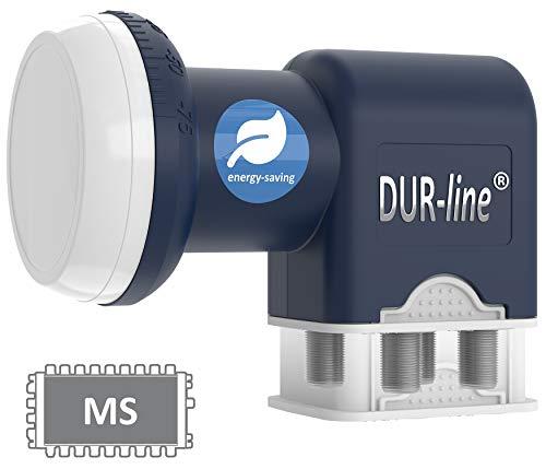 DUR-line Blue ECO Quattro LNB - extem stromsparend - nur für Multischalter - Premium-Qualität - [ Test SEHR GUT *] digital, Full HD, 4K, 3D