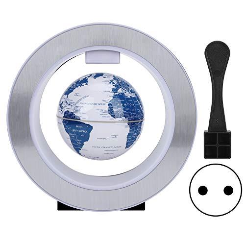 Fdit Globo levitante magnético con luz LED, Globo tecnológico para geografía Mundial, niños, Globos flotantes de Aprendizaje, decoración de Gadget Escritorio Mundial en el hogar (1#)