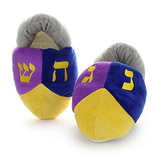 Cazenove Hanukkah Kids Dreidel Slippers (Small European 26-29)