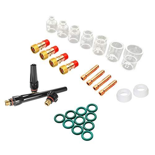 KKmoon 30st TIG lasfakkel accessoires 4#-10# glazen beker kit voor WP17/18/26 Kit 2