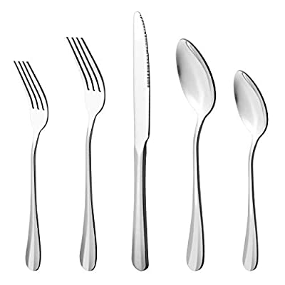 20-Piece Stainless Steel Flatware Cutlery Set, Utensils Service for 4, Include Knife/Fork/Spoon?Extra give a steak knife as a gift?