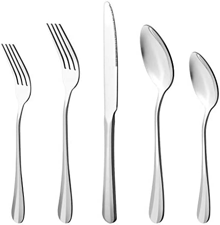20 Piece Stainless Steel Flatware Cutlery Set Utensils Service for 4 Include Knife Fork Spoon product image