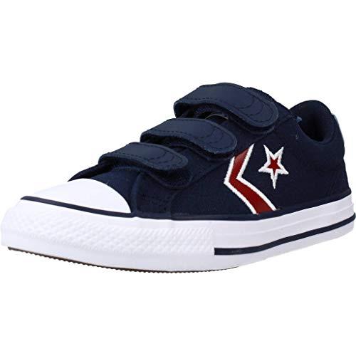 Converse Star Player 3V Textile Distort Sneakers Garcons Blu - 31 - Sneakers Basse