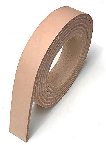"Dangerous Threads Natural Veg Tan 8/9 Ounce Leather Belt Blank Strip, Extra Long 1"" x 72"""