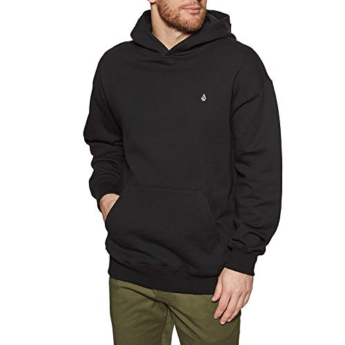 Volcom Erith Black - Sudadera con capucha para hombre, talla L, color negro