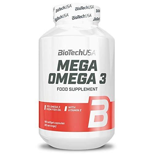BioTechUSA Mega Omega 3, 180 kapseln