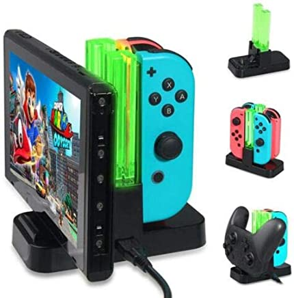 NameStore(TM) Charging Dock for Nintendo Switch Joy-Con 4 Grips Controller Handle Charger