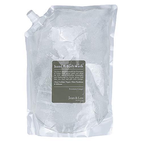 Jean & Len Nachfüllpack Rosemary/Ginger Hand & Body Wash 1,5 L, 1500 ml