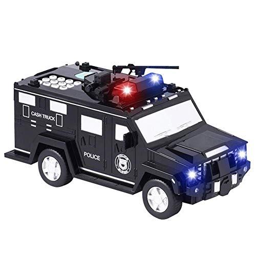 HoaJeo Sparschwein Spielzeug Auto, Smart Musik Passwort Banknote Auto Spielzeug Sparschwein mit Licht Elektronische Geld Bank Spielzeug Auto Baby Elektronische Edukation Spielzeug - B