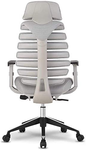 BeingHD Qualitätsbürostuhl, Bürostuhl mit Armlehne Bürostuhl Mesh Chair einstellbar Rotary Computer Schreibtisch und Stuhl, Spielstuhl High Back Ergonomischer Stuhl (Color : Grey)