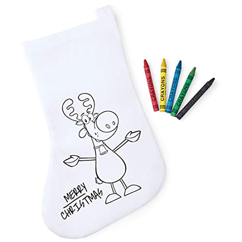 Lote de 30 Calcetines Infantiles Navidad para Colorear.