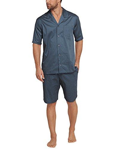 Schiesser Herren Mix & Relax Pyjama kurz Zweiteiliger Schlafanzug, Blau (Petrol 811), XXX-Large (Herstellergröße: 058)