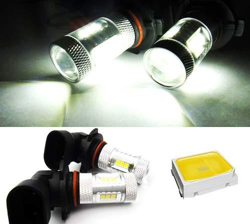 Lot de 2 ampoules LED blanches 9005 HB3 9145 H10 pour feux de position, feux de circulation diurnes, feux de brouillard RZG