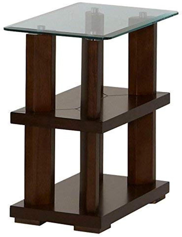 Progressive Furniture Delfino Chairside Table, Burnished Cherry