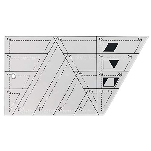Regla de Acrilico, Regla de costura acrílica Moda regla de fácil Plantilla de bricolaje para acolchar coser pintura, Regla de Acolchado Regla de Patchwork Regla de Corte de Patchwork