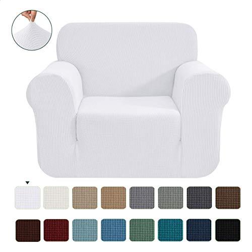 CHUN YI 1-Stück Jacquard Sofaüberwurf, Sofaüberzug, Sofahusse, Sofabezug für Sofa, Couch, Sessel, mehrere Farben (Weiß, 1-sitzer)
