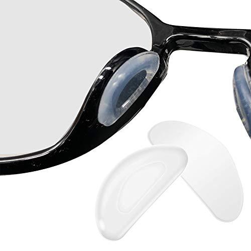 vap26 5 Paar Nasenpads für Brillen, Silikon-Nasenpads in D-Form zum Aufkleben von rutschfesten, klebenden, weichen Nasenpads für Sonnenbrillen mit Lesebrille