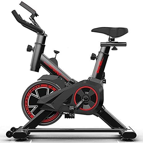 Ciclo di allenamento silenzioso con cintura da ciclismo indoor professionale con manubrio e sedile regolabili Fitness Bike e Team Addominale Trainer-Nero