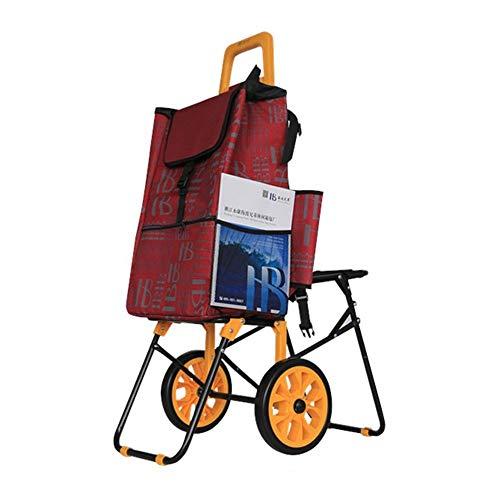 Yuefensu Einkaufswagen Leichte tragbare Lieferwagen Einkaufswagen Faltbare praktische Rollwagen Ideal for Mobile Bücher Papier Unterrichtsmaterial Geeignet für den Transport verschiedener Waren