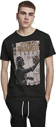 MERCHCODE Herren Star Wars Darth Vader Tales T-Shirt, Black, XXL