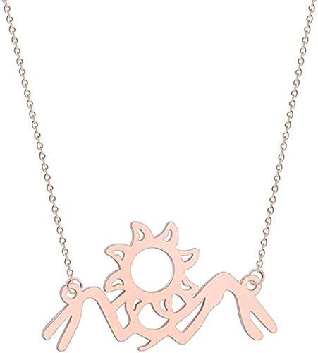 NC190 Collar de Acero Inoxidable para Mujer, Collar en Forma de S, Luna Creciente, Girasol, Infinito, Lobo, León, Paloma, pájaro, Colgante de Amor, Collar, Regalo de joyería