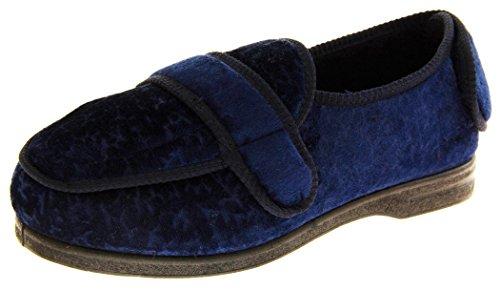 Coolers Bw27a Mujer Azul Marino Correas De Velcro De Ajuste De Ancho Zapatillas Ortopédicos EU 38