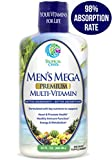 Men's Mega Premium Liquid Multivitamin w/CoQ10, Paba + 100 Additional Vitamins, Minerals, Amino Acids to Support Muscle, Heart & Brain Functions* Max Absorption! - 32 Serv, 32oz