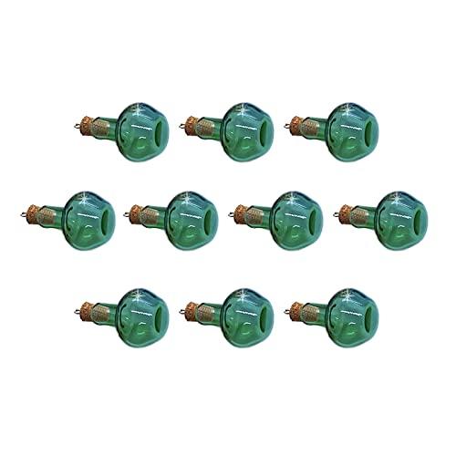 QFDM Botella de Almacenamiento 10 unids / 20pcs / 50pcs 2.5 x 1.6 cm 1 ml Botellas de Corcho de Vidrio Muestra vacía Pequeños tarros de Vidrio deseando Botella de Vidrio Botellas, Jarras y Cajas