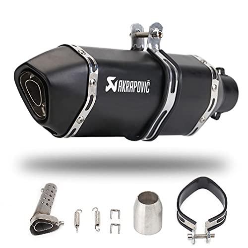 Universal 51 mm Silenciador de tubo de escape de motocicleta Eliminador de ruido Escape trasero modificado Silenciador de acero inoxidable Moto DB Killer para Dirt Bikes ATV Scooter (Black1)