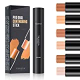 Coosa 3PCS 6 Colors Highlighter Stick,2 in 1 Double Head Contour and Highlighters Stick Waterproof Body Face Brightens & Shades Pencil