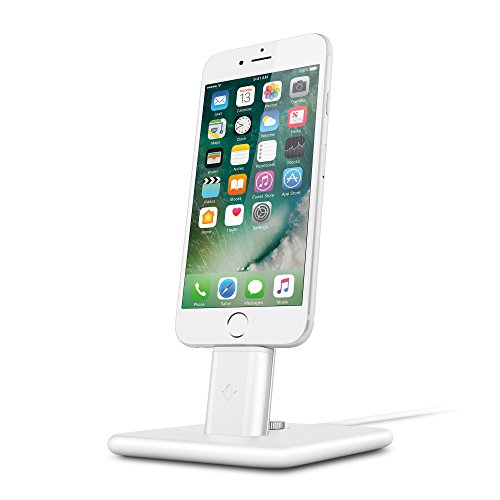 Twelve South HiRise 2 Deluxe for iPhone/iPad, White | Adjustable Charging Stand with Lightning + Micro-USB Cables