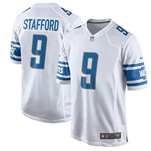 Nike Detroit Lions Matthew Stafford Youth 8-20 Game Jersey, White (Large 14-16)