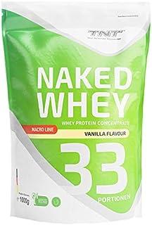 TNT Naked Whey + Laktase – 1kg Whey Protein Konzentrat – Eiweißpulver mit toller..