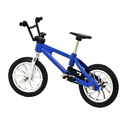 Miniatura Bicicleta De Montaña Modelo De Bicicleta Al Aire Libre Casa De Muñecas Accesorio Niños DIY Juguete - Azul