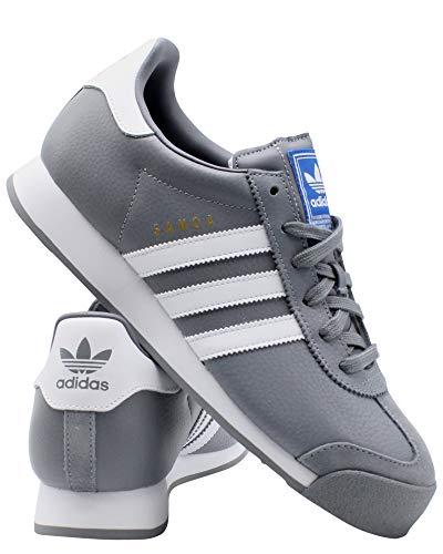 adidas Mens Samoa Sneaker - Grey White,Grey White,11