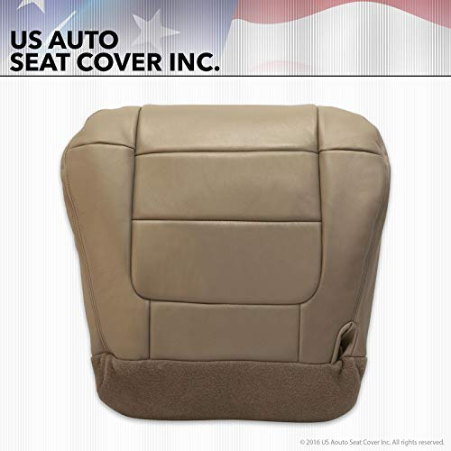 2002 2003 Compatible with Ford F-150 Lariat XLT Super Crew Driver Bottom Leather Seat Cover Tan