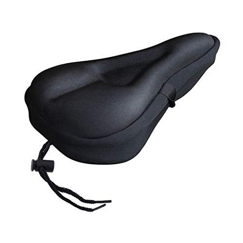 Sharplace Funda de Cojín de Gel para Asiento de Bicicleta de Ciclismo Premium de 11x7 Pulgadas, Cómoda Almohadilla de Sillín de Bicicleta Súper Suave para Clase