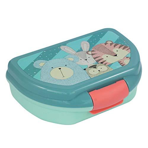 POS 30630004 – Fiambrera con bonito diseño Nordic Crew, aprox. 16 x 12 x 6,5 cm plástico sin BPA ni ftalatos ideal para el pan de pausa, para niños y niñas