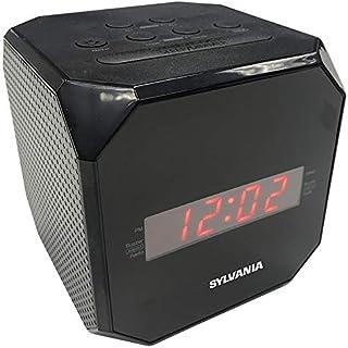 SYLVANIA Cube Clock Radio, Black