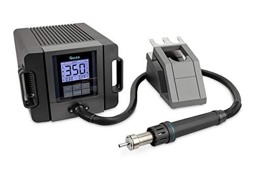 Quick TR1300A Rework-Station Industrie-Heißluft-Lötstation Set digital regelbar 1300W Temperaturbereich 100-500 °C SMD Reworkstation/Kalibrierfunktion/Standby/LCD-Display