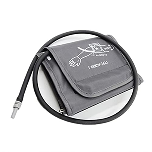 GeKLok Elektrische Blutdruckmanschette, Große Manschette für Blutdruckmessgerät, Ersatz-Blutdruckmessgerät-Manschette, Oberarmmanschette Zubehör für Blutdruckmessgerät 22-32cm(Dunkelgrau)
