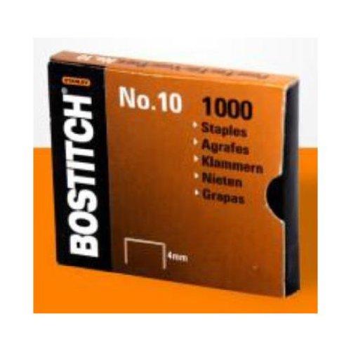 Bostitch NO-10-1M Heftklammern für HP10, Größe 9 x 4 mm, Menge 1000 Stück