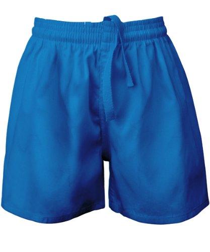 Visiodirect Short école Rugby en Polycoton, Taille Small de Couleur Bleu