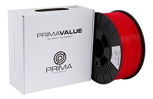 Prima Filaments PV-ABS-175-1000-RD Filamento Abs, 1.75 mm, Bobina da 1 kg, Rosso