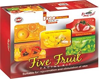 BEE ONE Unisex Five Fruit Facial Kit For All Skin Type, 312 g