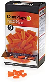 Liberty DuraPlug Uncorded Disposable Foam Earplug with 32 dB NRR, Orange (Case of 200 Pairs)